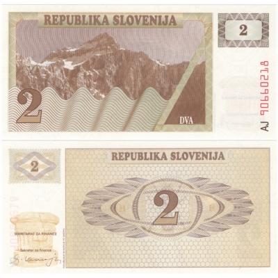 Slovinsko - bankovka 2 Tolary 1990 UNC