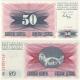 Bosna a Hercegovina - bankovka 50 dinara 1992 UNC