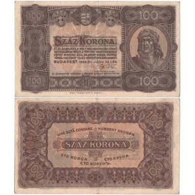 Maďarsko - bankovka 100 Korona 1923