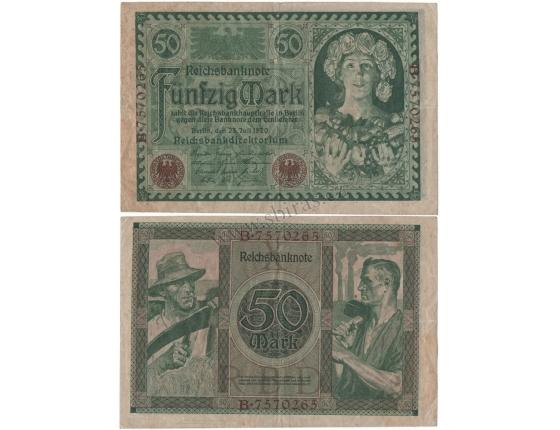 Německo - bankovka 50 marek 1920