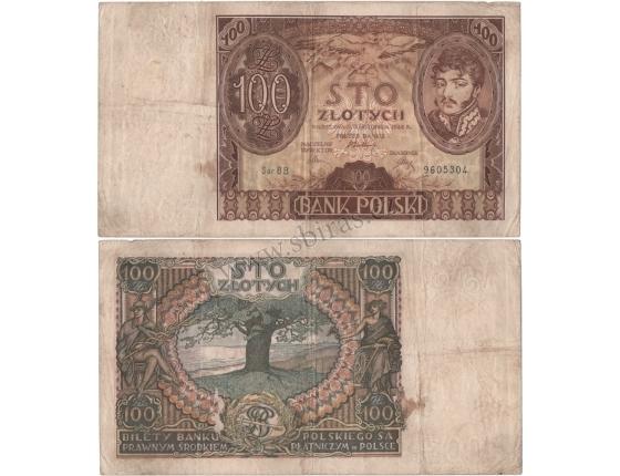 Polsko - bankovka 100 Zlotych 1934