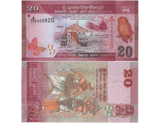 Srí Lanka - bankovka 20 rupees 2015 UNC