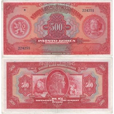 500 korun 1929, série E