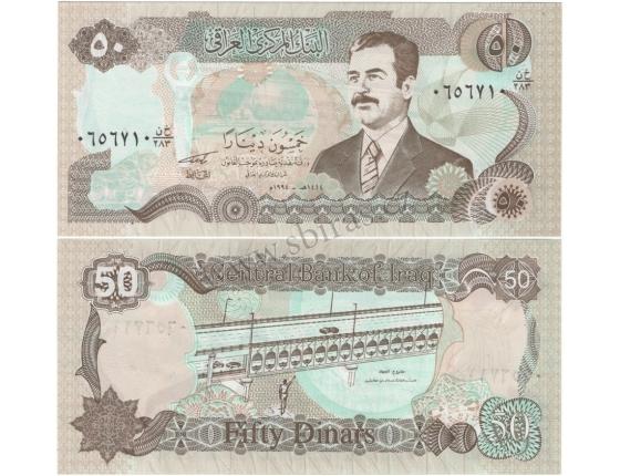 Irák - bankovka 50 Dinars 1994 aUNC