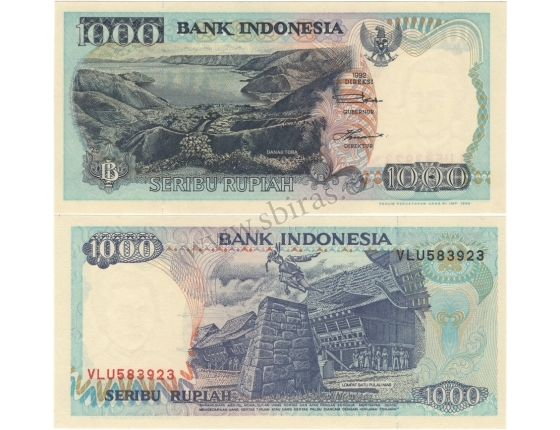 Indonésie - bankovka 1000 rupiah 1992 UNC