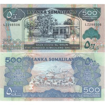 Somálsko - bankovka 500 shillings 2011 aUNC
