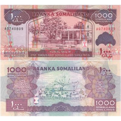 Somálsko - bankovka 1000 shillings 2011 UNC