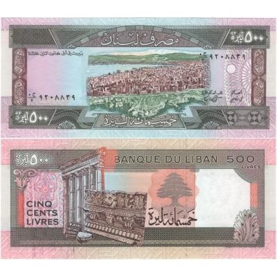Libanon - bankovka 500 liber 1988 UNC