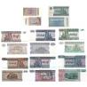 Barma - kompletní sada bankovek 50 pyas, 1,5,10,20,50,100,200 kyats UNC