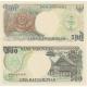Indonésie - sata bankovek 100, 500, 1000 rupiah UNC