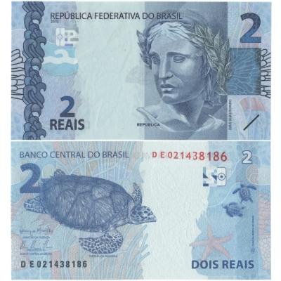 Brazílie - bankovka 2 reais 2010 UNC