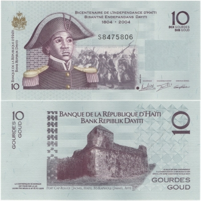 Haiti - bankovka 10 gourdes 2016 UNC, polymerová bankovka