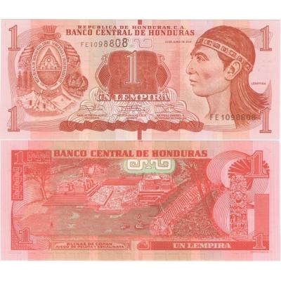 Honduras - bankovka 1 lempira 2014 UNC