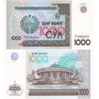 Uzbekistán - bankovka 1000 sum 2001 UNC