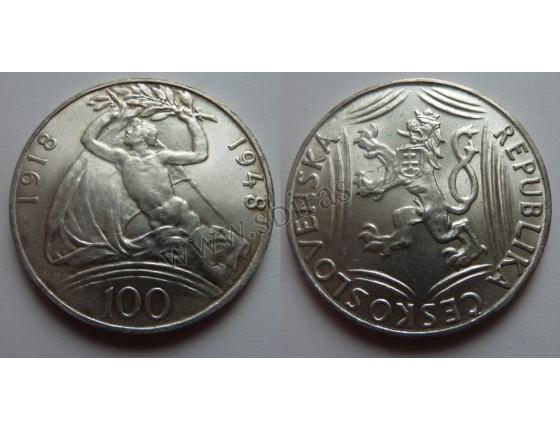 100 korun 1948 - Třicáté výročí vzniku Československa