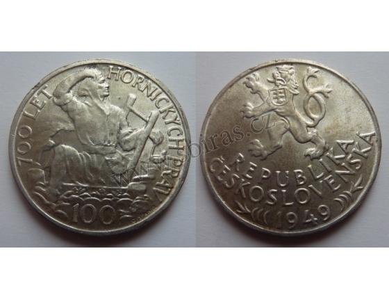 100 korun 1949 - 700 let hornických práv Jihlavy