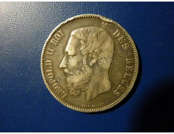 5 franků Belgie 1872