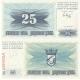 Bosna a Hercegovina - bankovka 25 dinara 1992 UNC