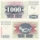 Bosna a Hercegovina - bankovka 1000 dinara 1992 UNC