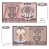 Bosna a Hercegovina - bankovka 10 dinara 1992 UNC