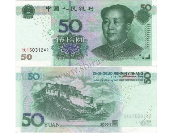 Čína - bankovka 50 yuan 2005