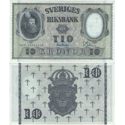 Švédsko - bankovka 10 kronor 1959