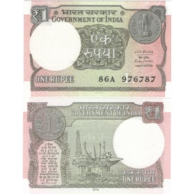 Indie - bankovka 1 rupee 2016 UNC