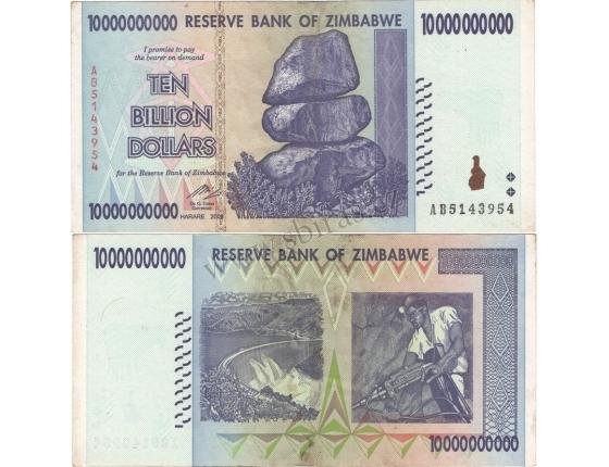 Zimbabwe - bankovka 10 000 000 000 dollars 2008 série AA