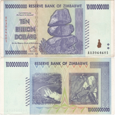 Zimbabwe - bankovka 10 000 000 000 dollars 2008