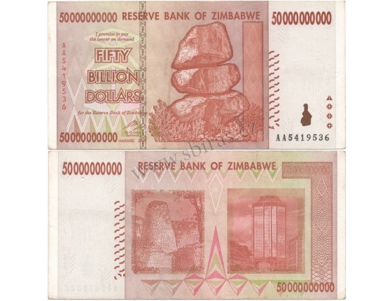 Zimbabwe - bankovka 50 000 000 000 dollars 2008 série AA
