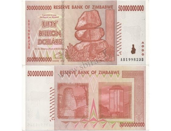 Zimbabwe - bankovka 50 000 000 000 dollars 2008