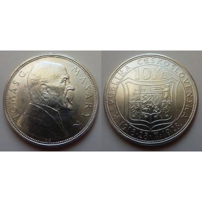 10 korun 1928 - 10. výročí založení Československa