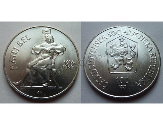 100 Kčs 1984 - Matej Bel, 300. výročí narození