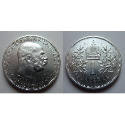 František Josef I. - stříbrná mince 1 koruna 1912