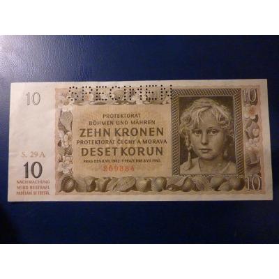 10 korun 1942 S.29A SPECIMEN