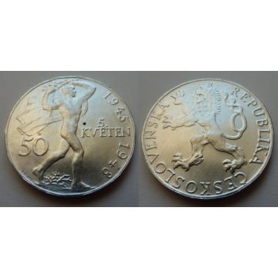 50 korun 1948 - 3. výročí Pražského povstání