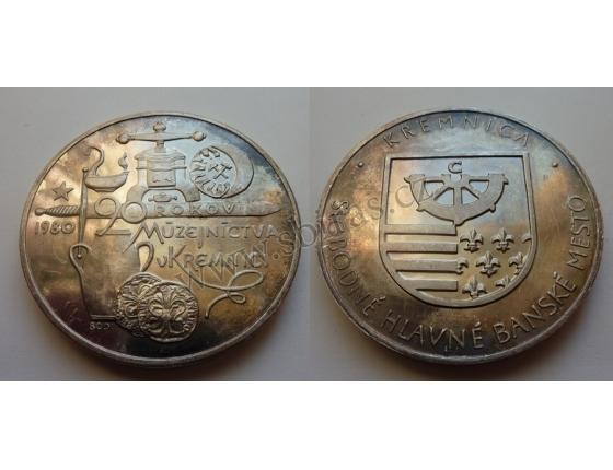 Pamětní medaile 90 let muzejnictva v Kremnici 1980