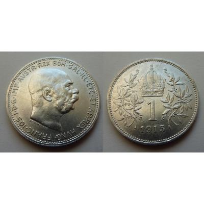 František Josef I. - stříbrná mince 1 koruna 1915