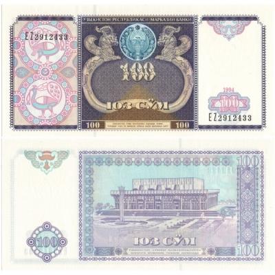 Uzbekistán - bankovka 100 Sum 1994 UNC