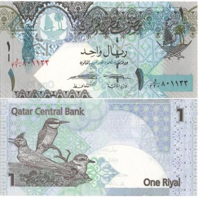 Katar - bankovka 1 Riyal 2015 UNC