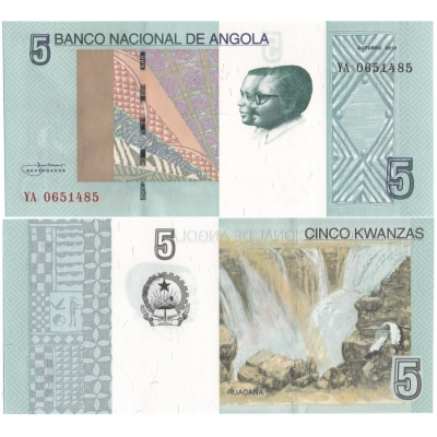 Angola - bankovka 5 Kwanzas 2012 UNC