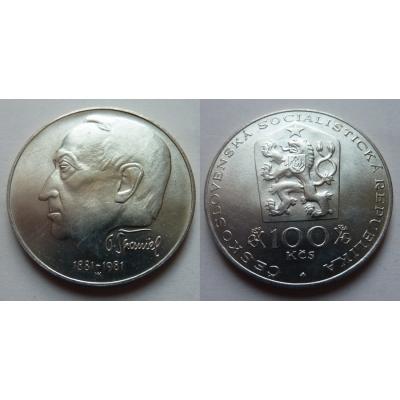 100 Koruna 1981 - 100. výročí narození Otakara Španiela