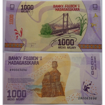 Madagaskar - bankovka 1000 ariary UNC