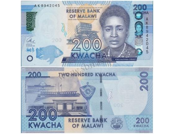 Malawi - bankovka 200 Kwacha 2016 UNC