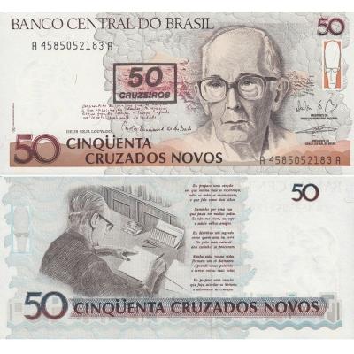 Brazílie - bankovka 50 Cruzeiros UNC