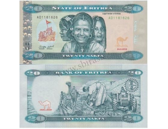 Eritrea - bankovka 20 Nakfa 2012 UNC