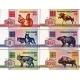 Bělorusko - sada bankovek 5, 10, 25, 50, 100 rublů zvířata 1992 UNC