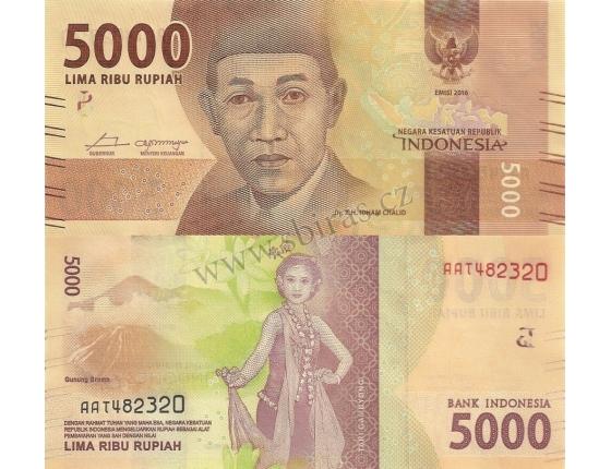 Indonésie - bankovka 5000 rupiah 2016 UNC