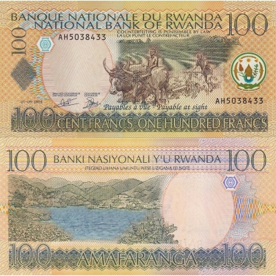 Rwanda - bankovka 100 francs 2003 UNC