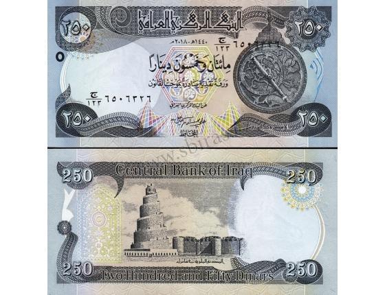 Irák - bankovka 250 dinars 2018 UNC